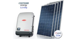 Gerador de Energia Fotovoltaico de 3,0 kWp